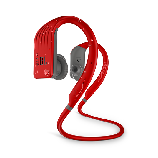 JBL Endurance JUMP - Red - Waterproof Wireless Sport In-Ear Headphones - Hero