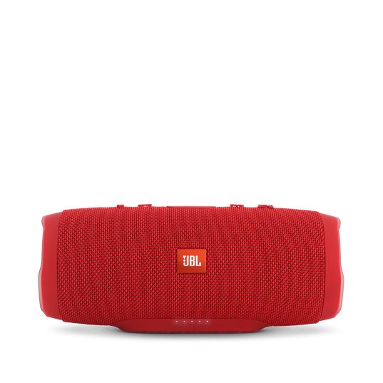 JBL Charge 3 - Red - Full-featured waterproof portable speaker with high-capacity battery to charge your devices - Front