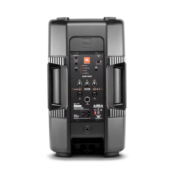 "JBL EON610 - Black - 10"" Two-Way Multipurpose Self-Powered Sound Reinforcement - Back"