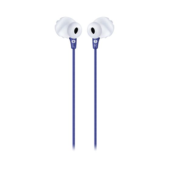 JBL Endurance RUN - Blue - Sweatproof Wired Sport In-Ear Headphones - Back
