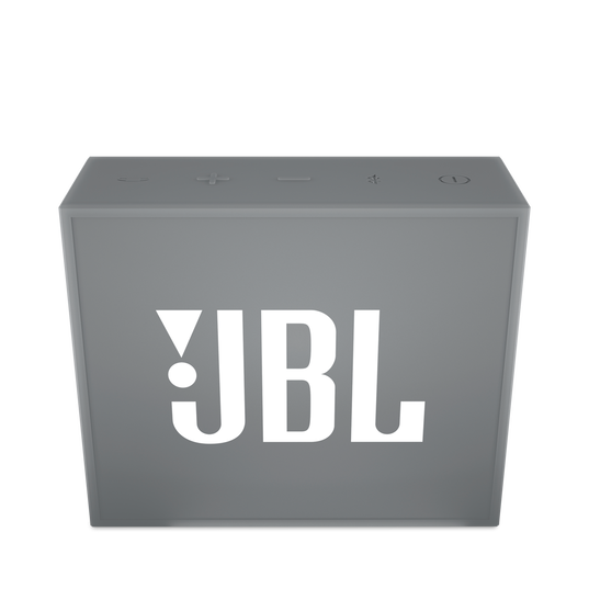JBL GO - Grey - Full-featured, great-sounding, great-value portable speaker - Front