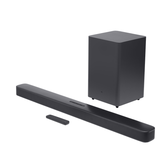 JBL Bar 2.1 Deep Bass - Black - 2.1 channel soundbar with wireless subwoofer - Hero