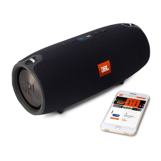 JBL Xtreme - Black - Splashproof portable speaker with ultra-powerful performance - Detailshot 4