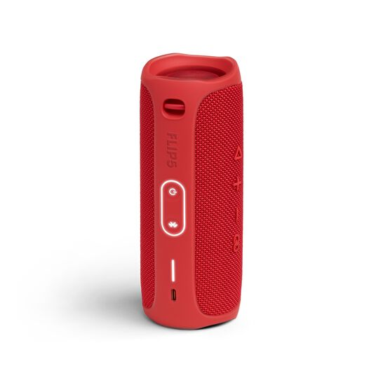 JBL FLIP 5 - Red - Portable Waterproof Speaker - Back