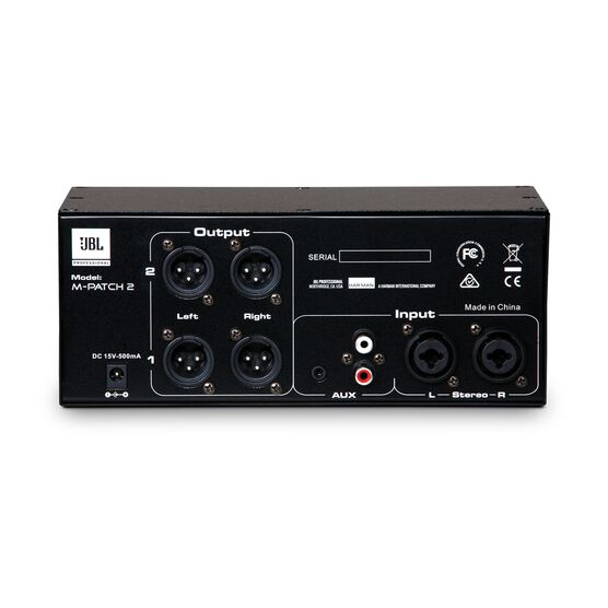 JBL M-Patch 2 - Black - Passive Stereo Controller and Switch Box - Back