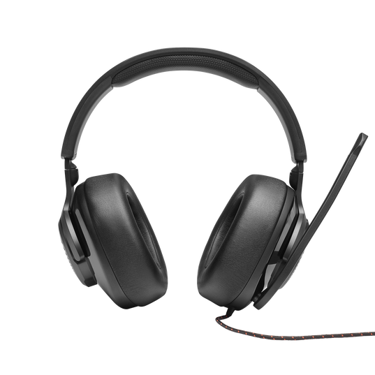 JBL Quantum 200 - Black - Wired over-ear gaming headset with flip-up mic - Front