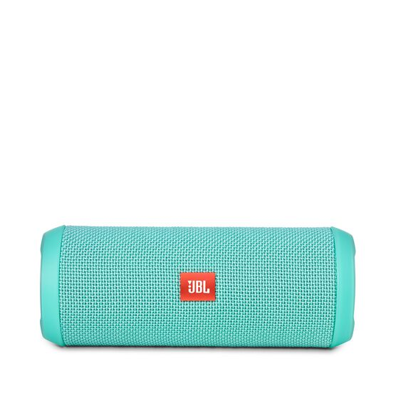 JBL Flip 3 - Teal - Splashproof portable Bluetooth speaker with powerful sound and speakerphone technology - Front