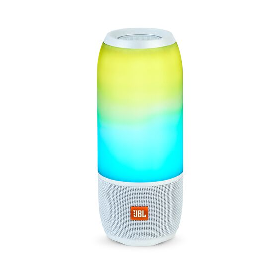 Pulse 3 - White - Waterproof portable Bluetooth speaker with 360° lightshow and sound. - Hero