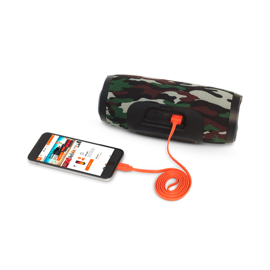 JBL Charge 3 Special Edition - Squad - Full-featured waterproof portable speaker with high-capacity battery to charge your devices - Detailshot 1