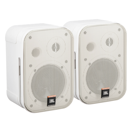 JBL Control 1 Pro (Pair) - White - Two-Way Professional Compact Loudspeaker System - Hero