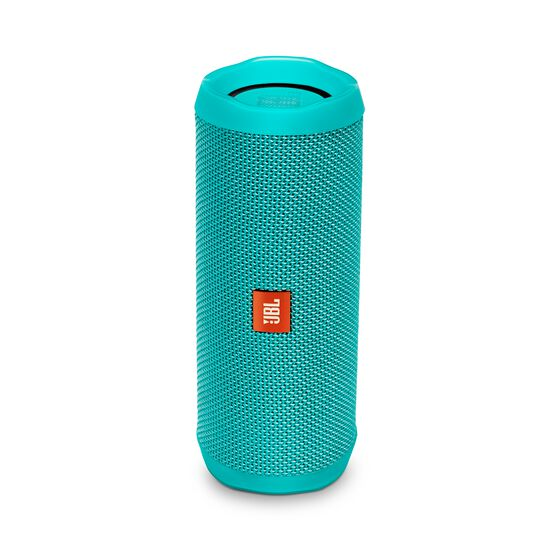 JBL Flip 4 - Teal - A full-featured waterproof portable Bluetooth speaker with surprisingly powerful sound. - Hero