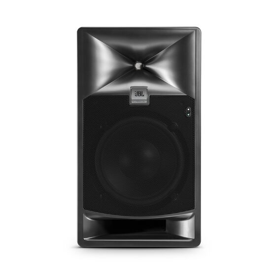 "JBL 708P - Black - 8"" Bi-Amplified Master Reference Monitor - Front"