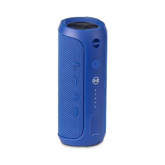 JBL Flip 3 - Blue - Splashproof portable Bluetooth speaker with powerful sound and speakerphone technology - Back