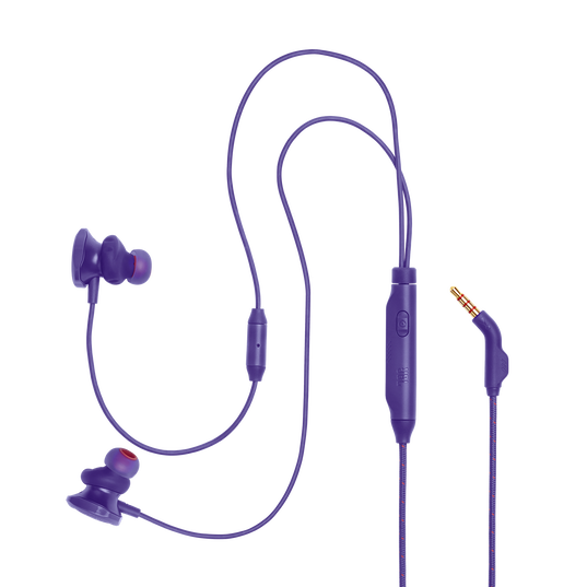 JBL Quantum 50 - Purple - Wired in-ear gaming headset with volume slider and mic mute - Detailshot 2