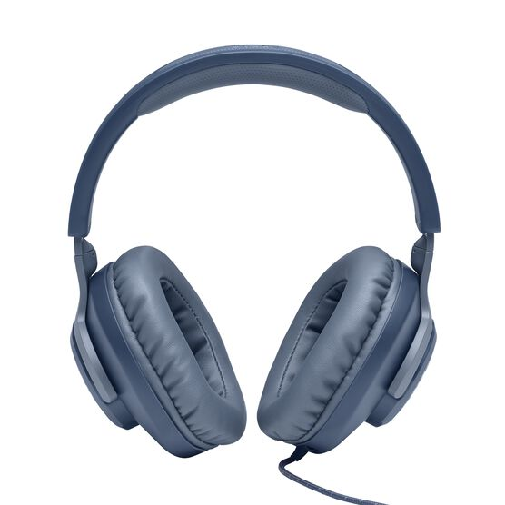 JBL Quantum 100 - Blue - Wired over-ear gaming headset with a detachable mic - Detailshot 2