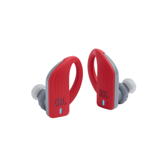 JBL Endurance PEAK - Red - Waterproof True Wireless In-Ear Sport Headphones - Detailshot 3