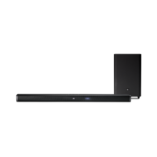 JBL Bar 2.1 - Black - 2.1-Channel Soundbar with Wireless Subwoofer - Front