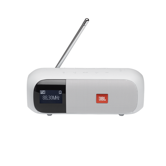 JBL Tuner 2 FM - White - Portable FM radio with Bluetooth - Front
