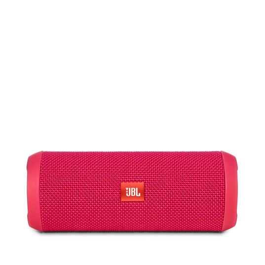 JBL Flip 3 - Pink - Splashproof portable Bluetooth speaker with powerful sound and speakerphone technology - Front