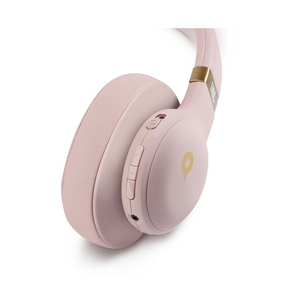 JBL E55BT Quincy Edition - Dusty Rose - Wireless over-ear headphones with Quincy's signature sound. - Detailshot 2