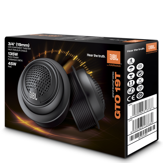 """GRAND TOURING GTO19T - Black - Stand-alone 3/4"""" Component Tweeter, 135W - Detailshot 2"""