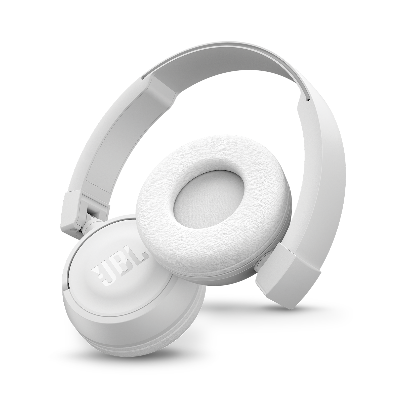 JBL T450BT - White - Wireless on-ear headphones - Detailshot 1