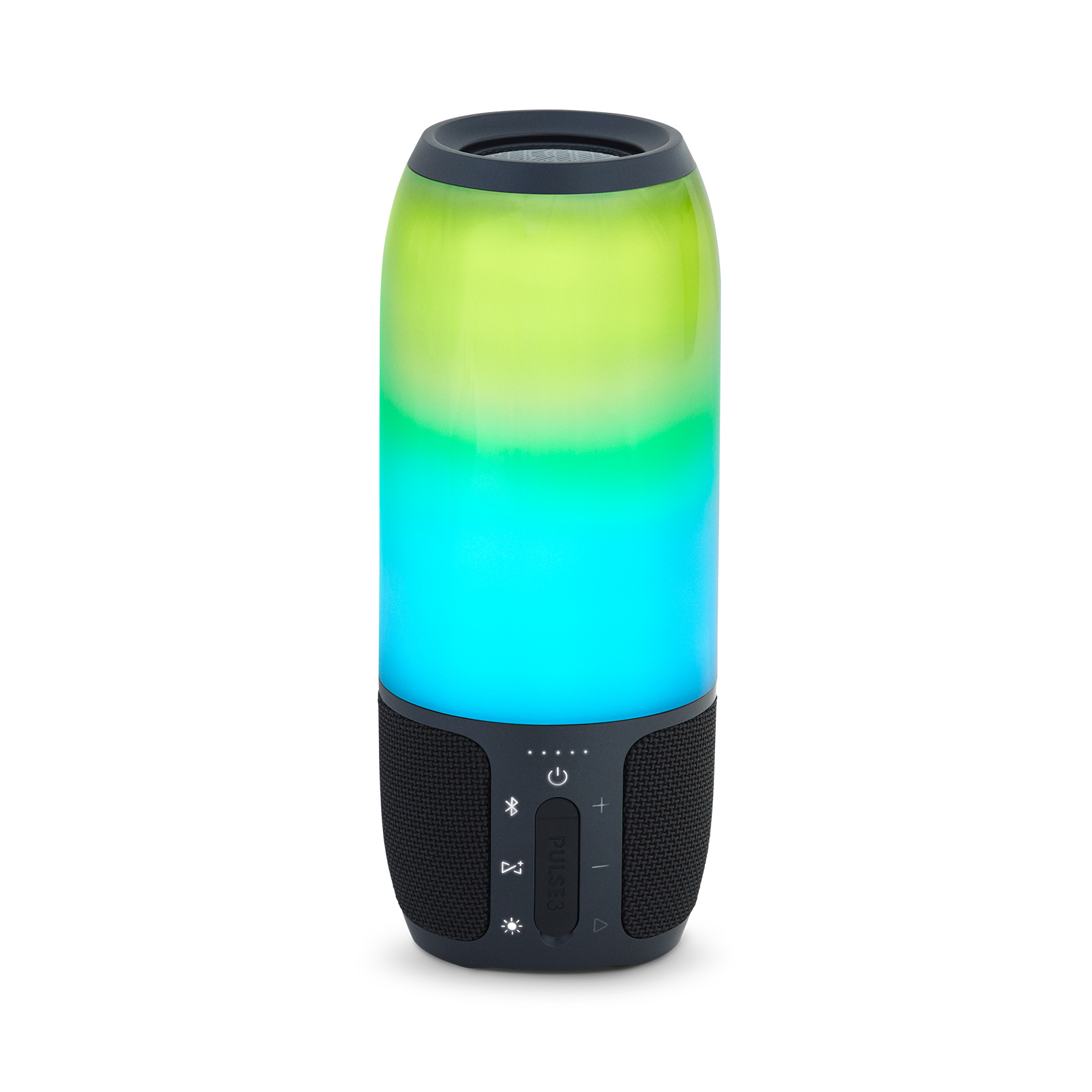 Pulse 3 - Black - Waterproof portable Bluetooth speaker with 360° lightshow and sound. - Back