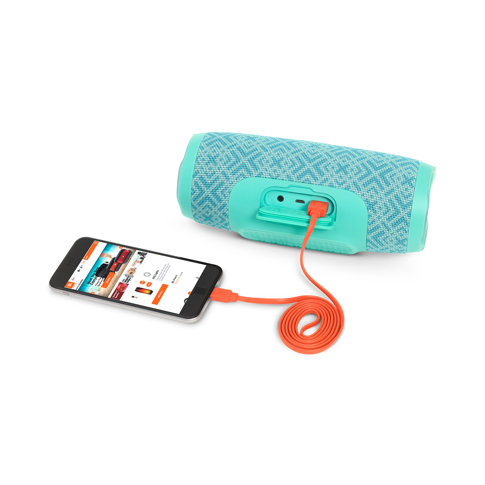 JBL Charge 3 Special Edition - Mosaic - Full-featured waterproof portable speaker with high-capacity battery to charge your devices - Detailshot 1