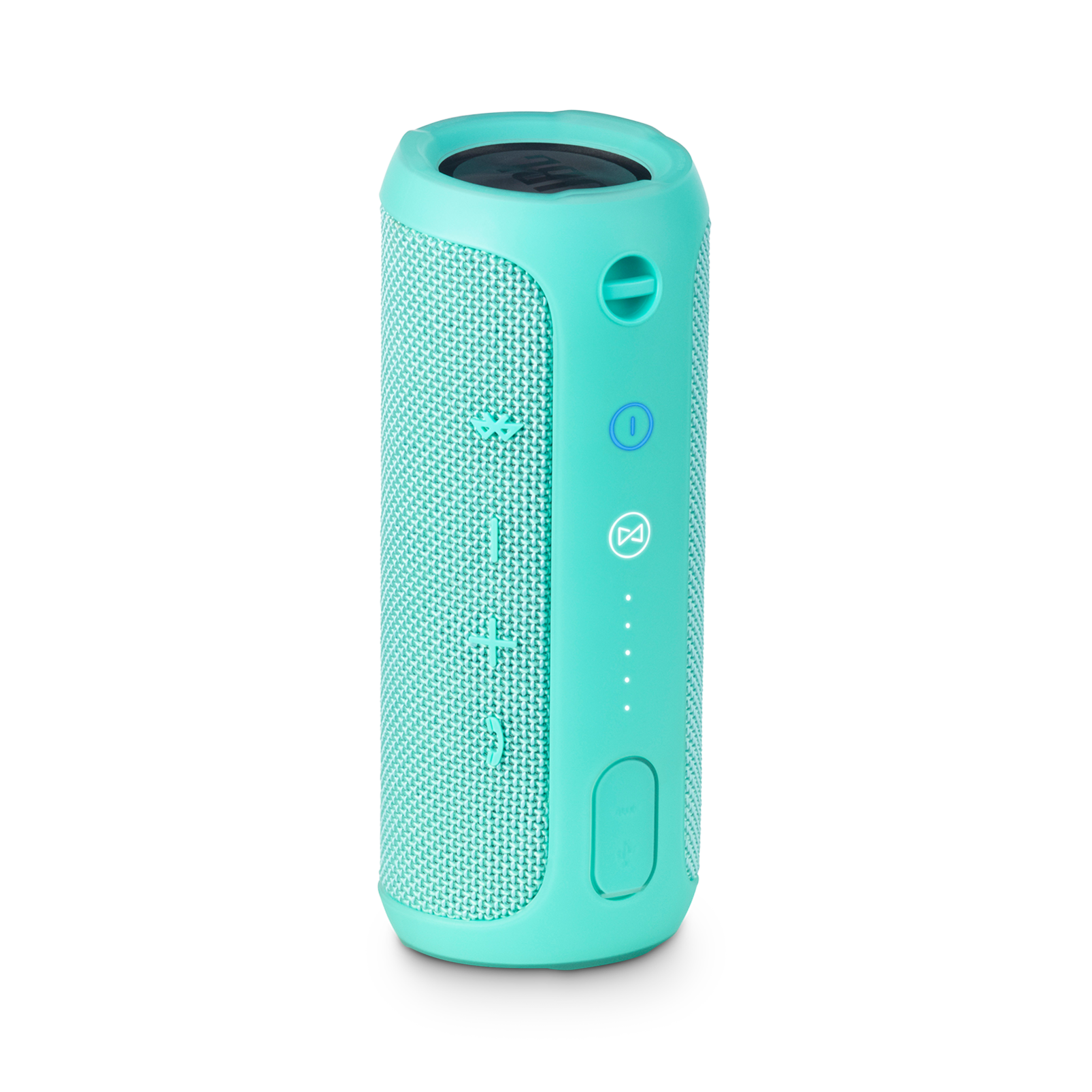 JBL Flip 3 - Teal - Splashproof portable Bluetooth speaker with powerful sound and speakerphone technology - Back