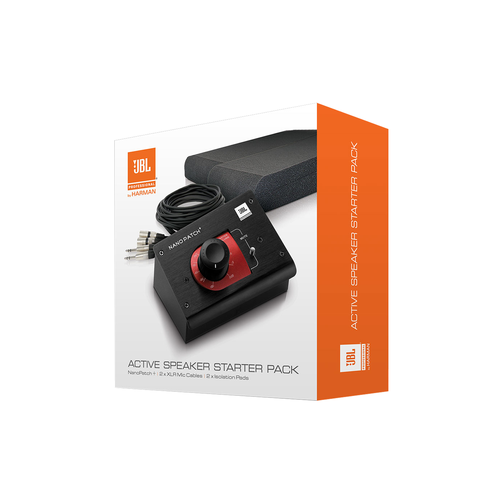 JBL Active Speaker Starter Set - Black - Studio Monitor Enhancement Pack - Hero