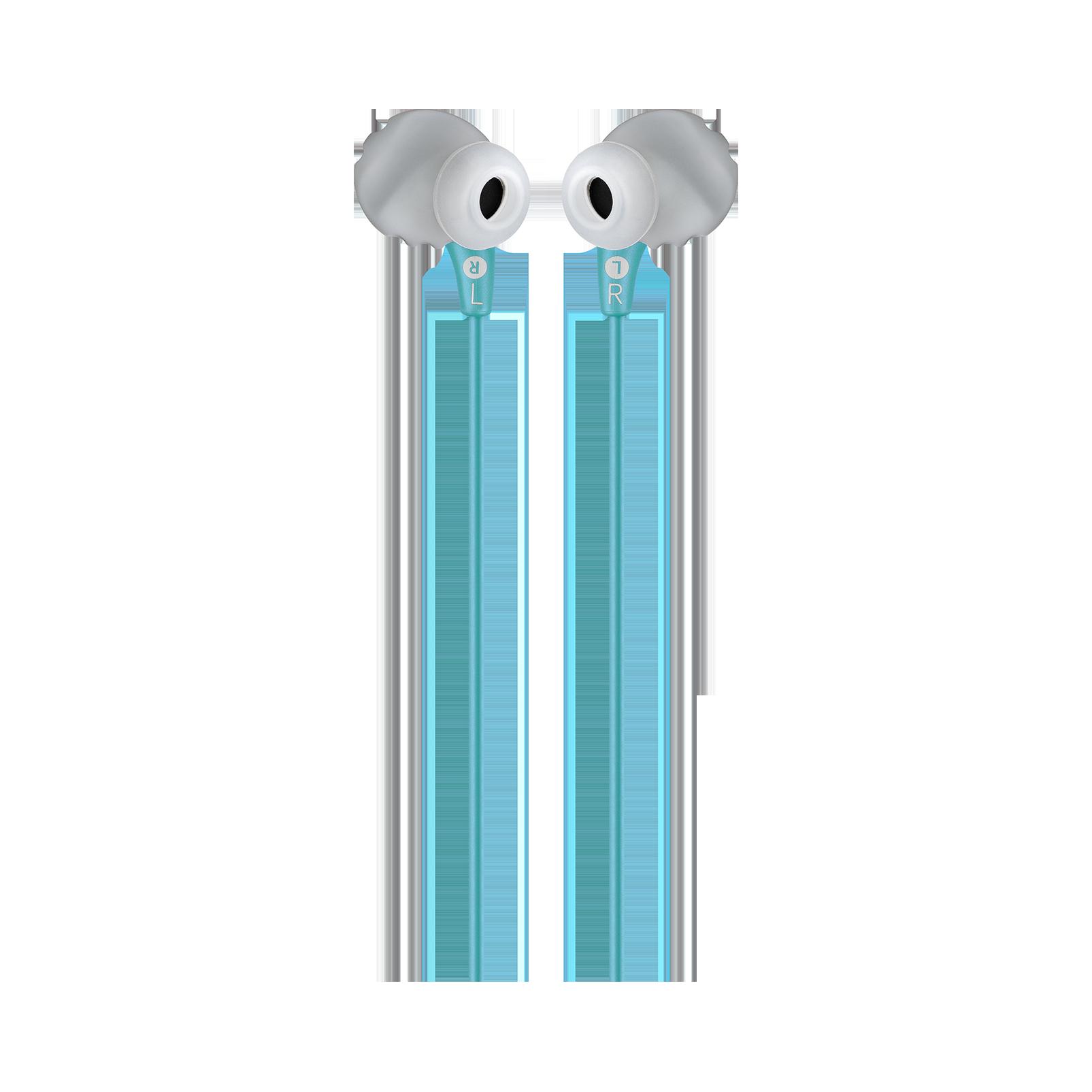 JBL Endurance RUN - Teal - Sweatproof Wired Sport In-Ear Headphones - Back