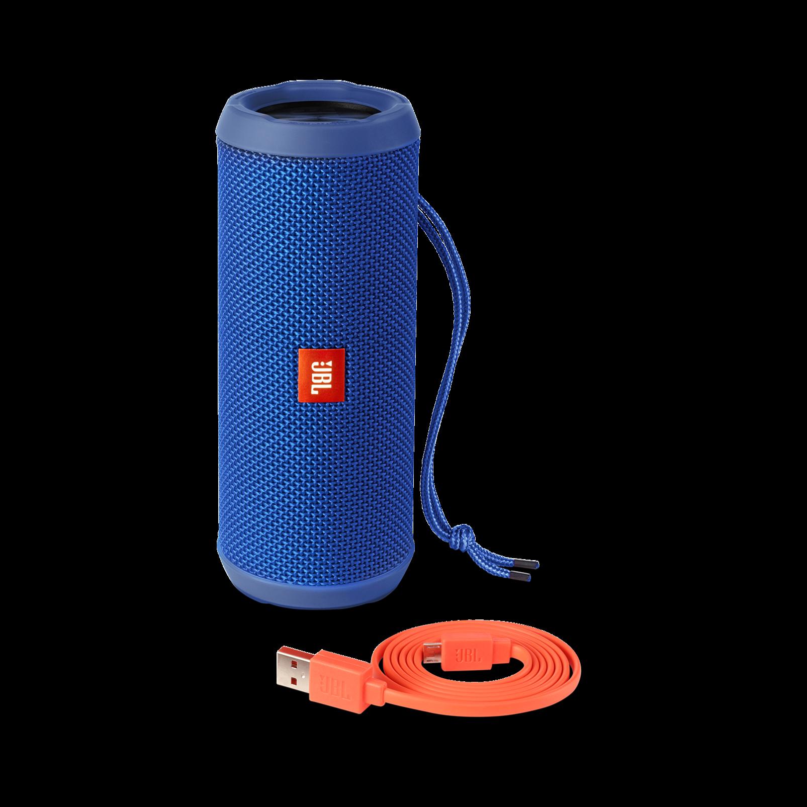 JBL Flip 3 - Blue - Splashproof portable Bluetooth speaker with powerful sound and speakerphone technology - Detailshot 4