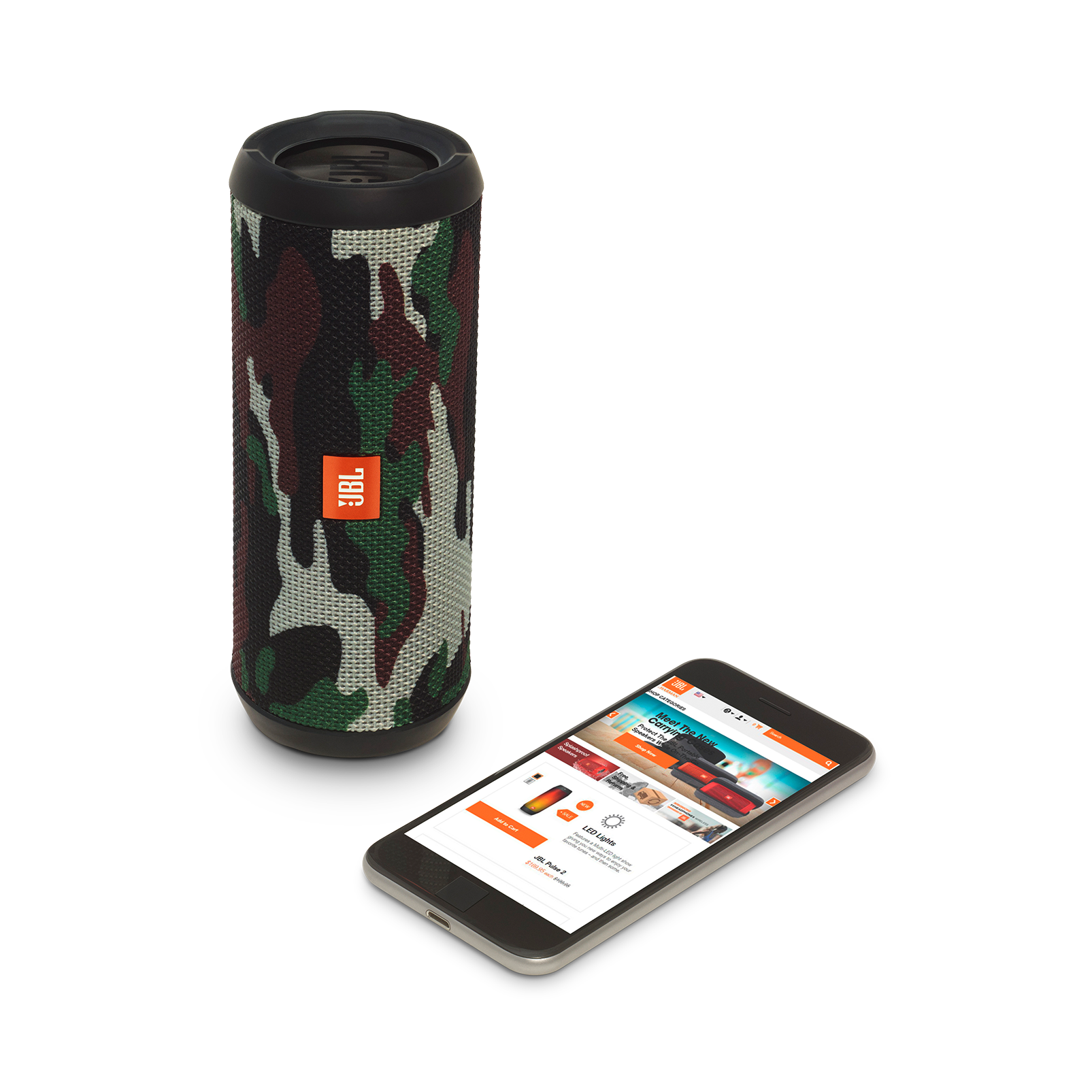 JBL Flip 3 Special Edition - Squad - Splashproof portable Bluetooth speaker with powerful sound and speakerphone technology - Detailshot 1