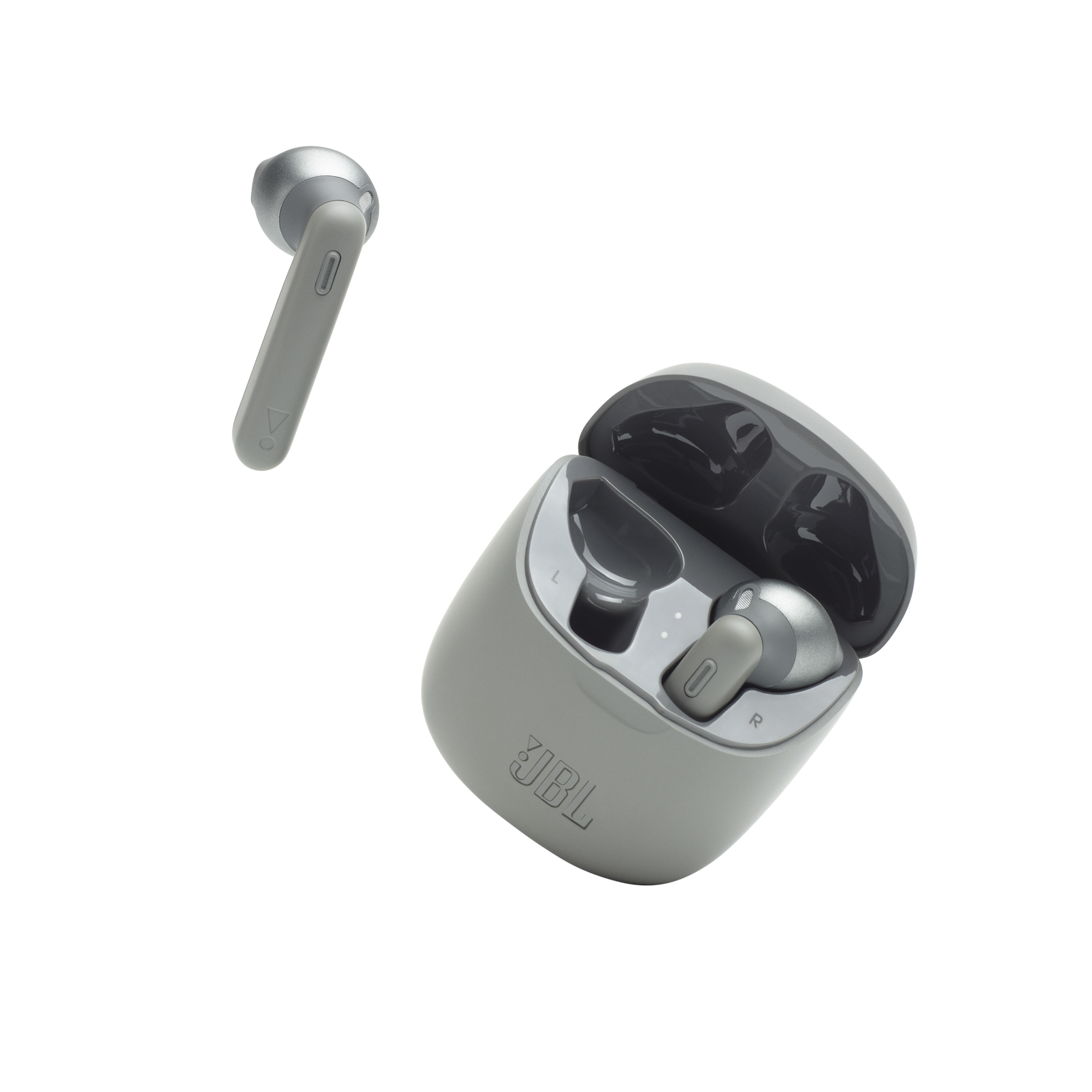 JBL TUNE 225TWS - Grey - True wireless earbud headphones - Detailshot 3