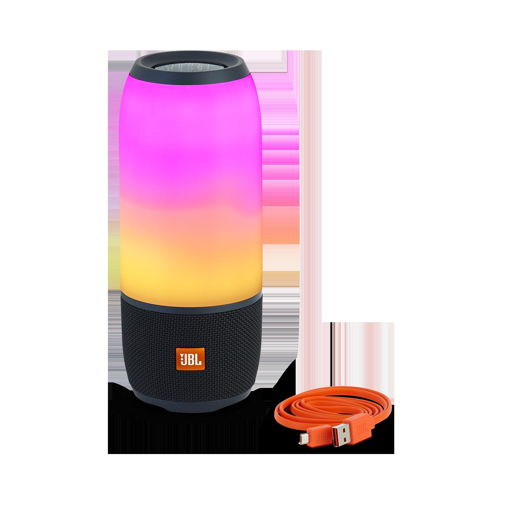 Pulse 3 - Black - Waterproof portable Bluetooth speaker with 360° lightshow and sound. - Detailshot 2