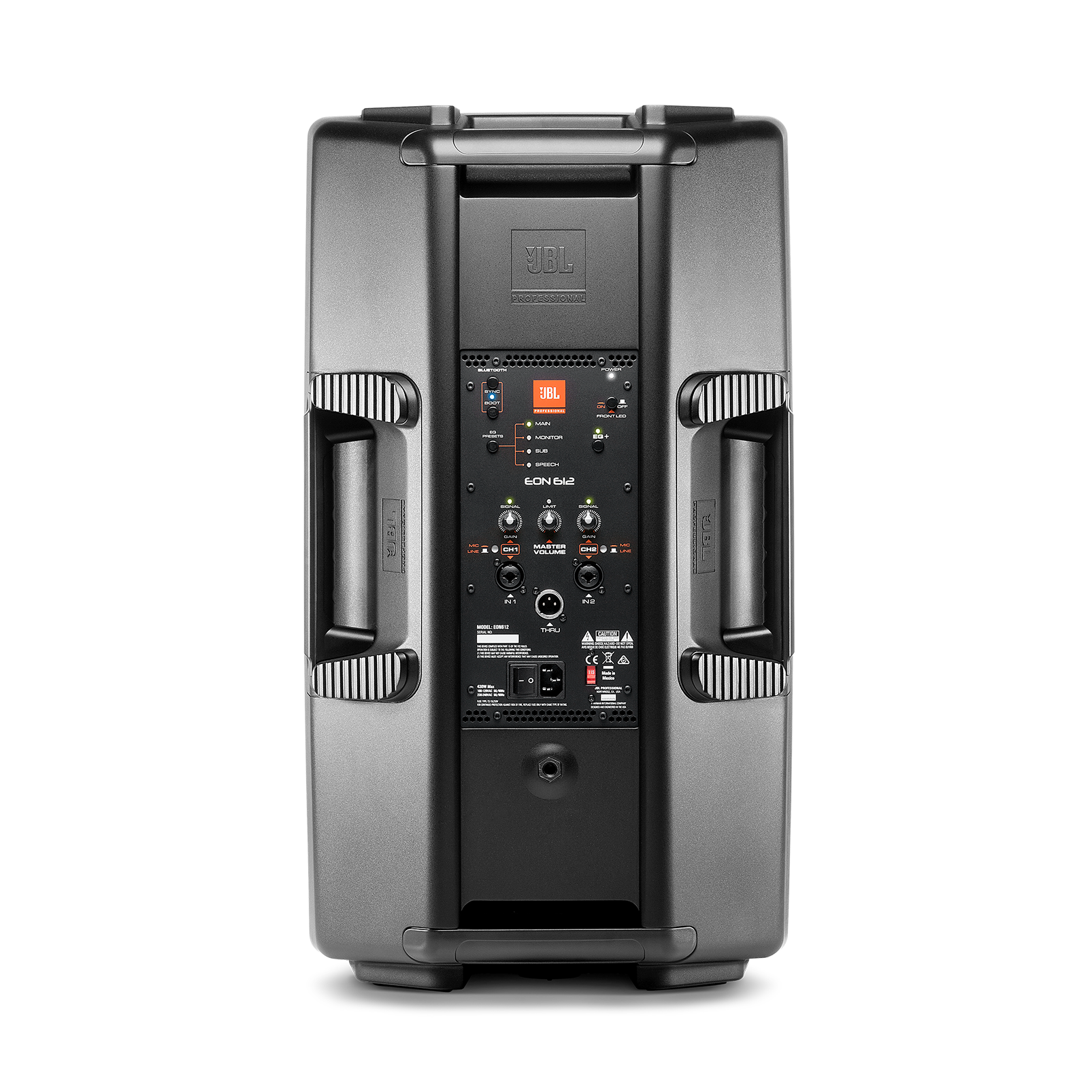 "JBL EON612 - Black - 12"" Two-Way Multipurpose Self-Powered Sound Reinforcement - Back"