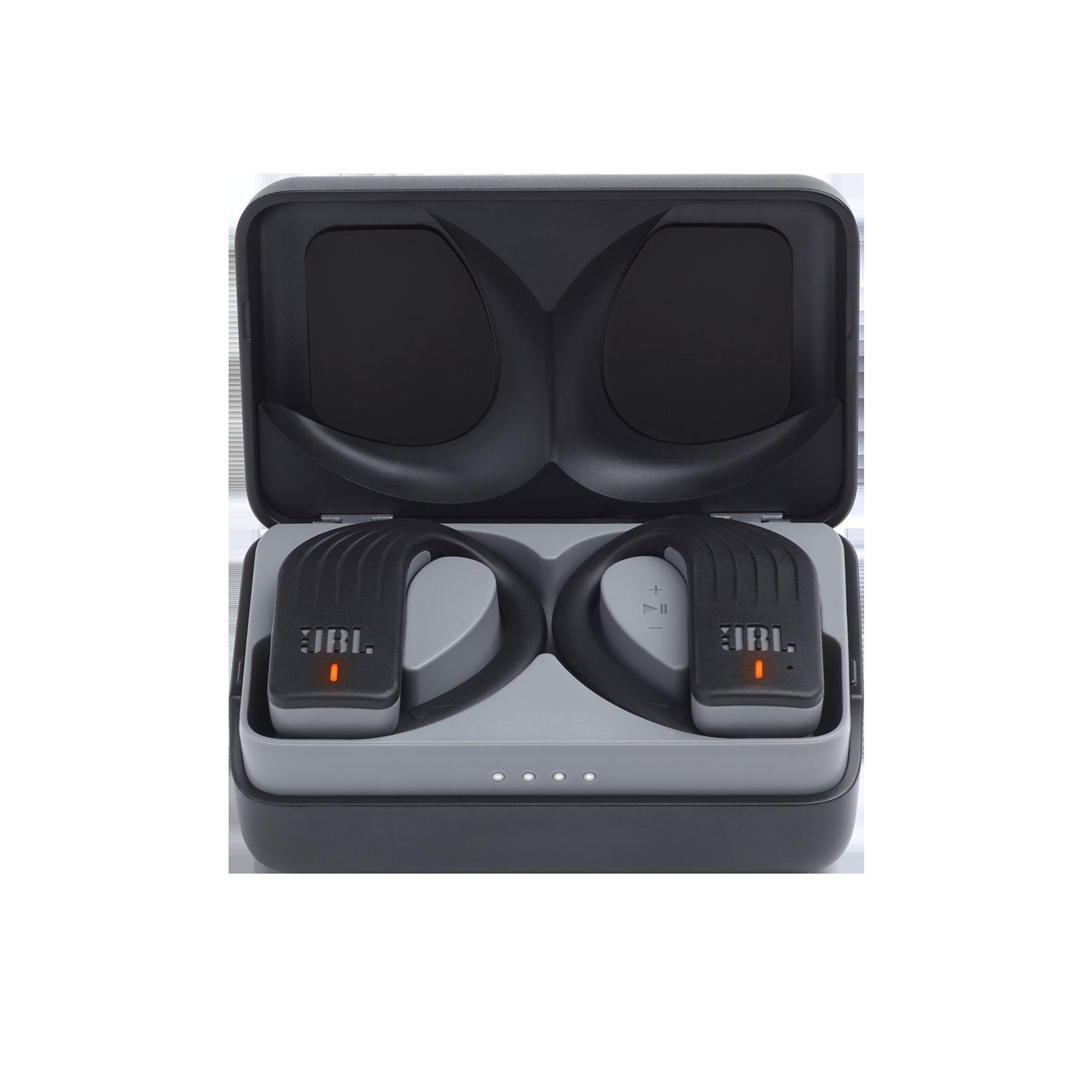 JBL Endurance PEAK - Black - Waterproof True Wireless In-Ear Sport Headphones - Hero