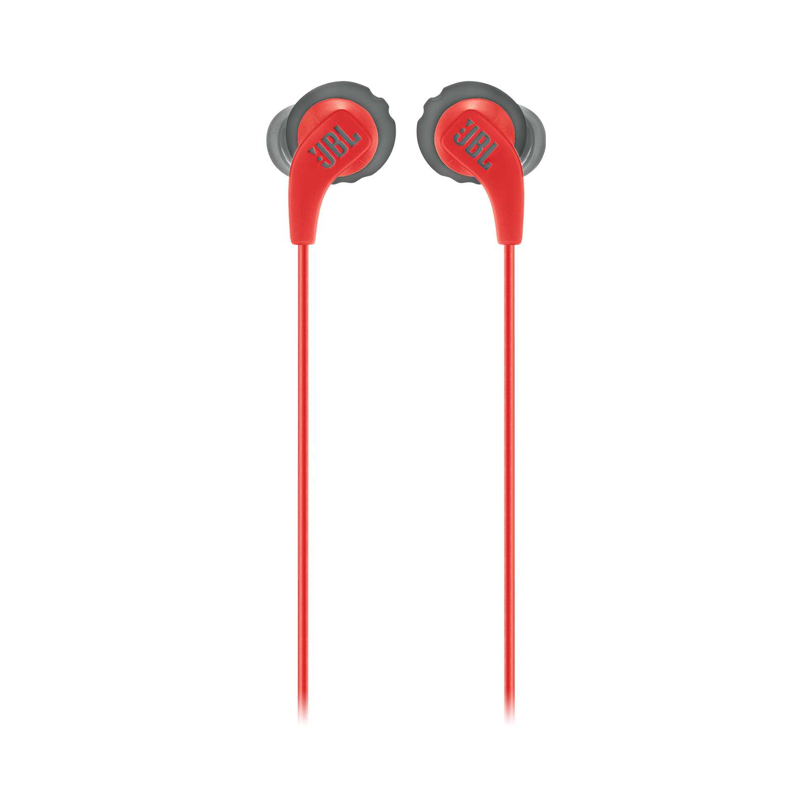 JBL Endurance RUN - Red - Sweatproof Wired Sport In-Ear Headphones - Front