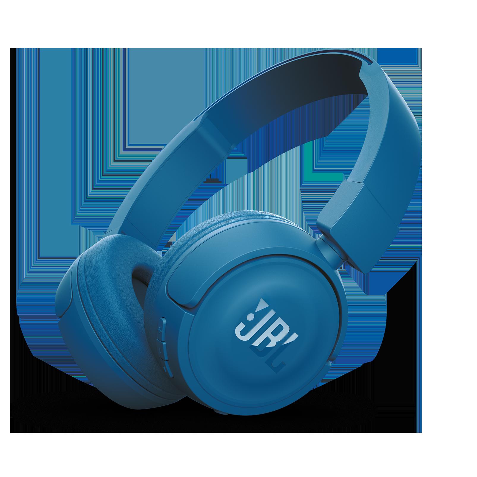 JBL T450BT - Blue - Wireless on-ear headphones - Hero