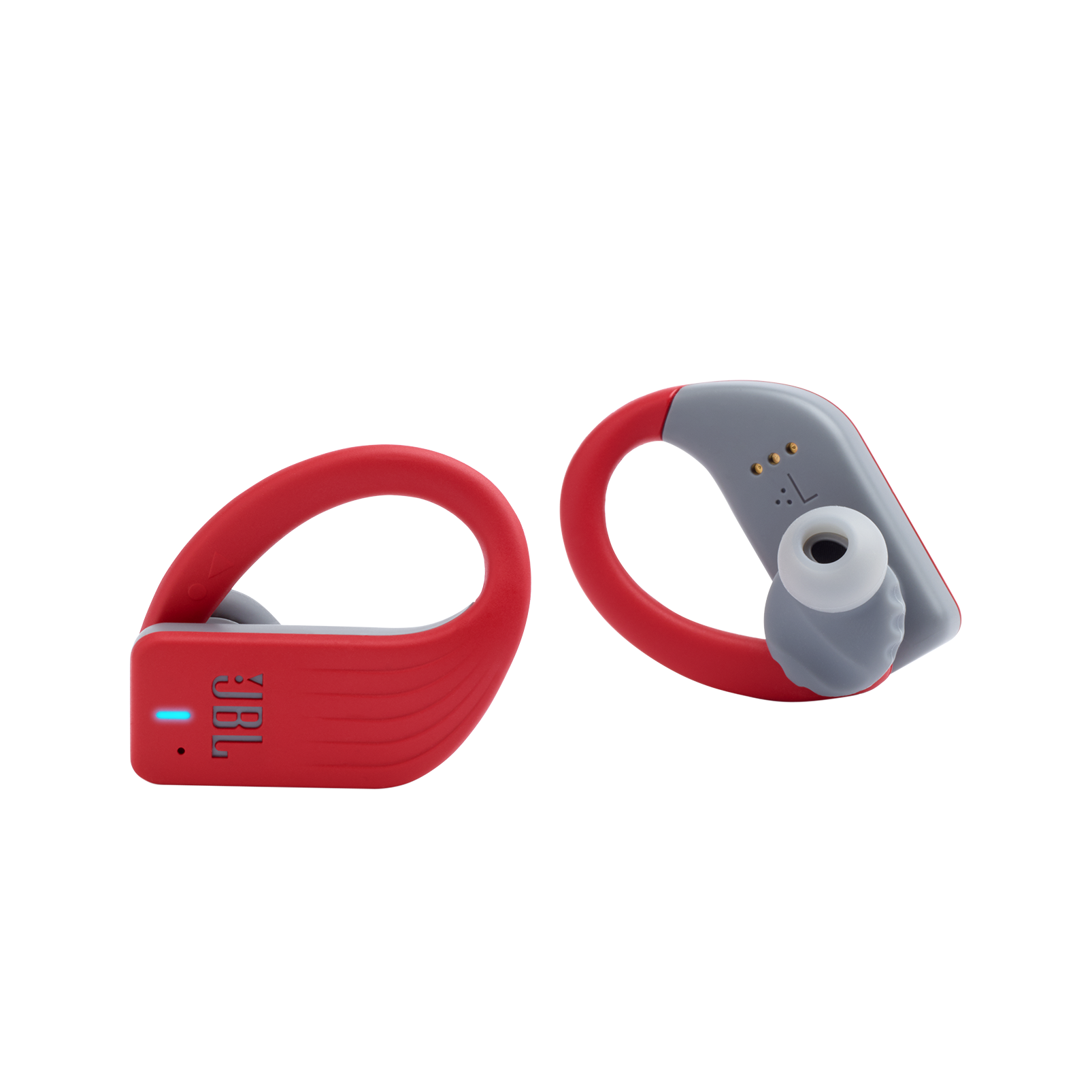 JBL Endurance PEAK - Red - Waterproof True Wireless In-Ear Sport Headphones - Detailshot 1