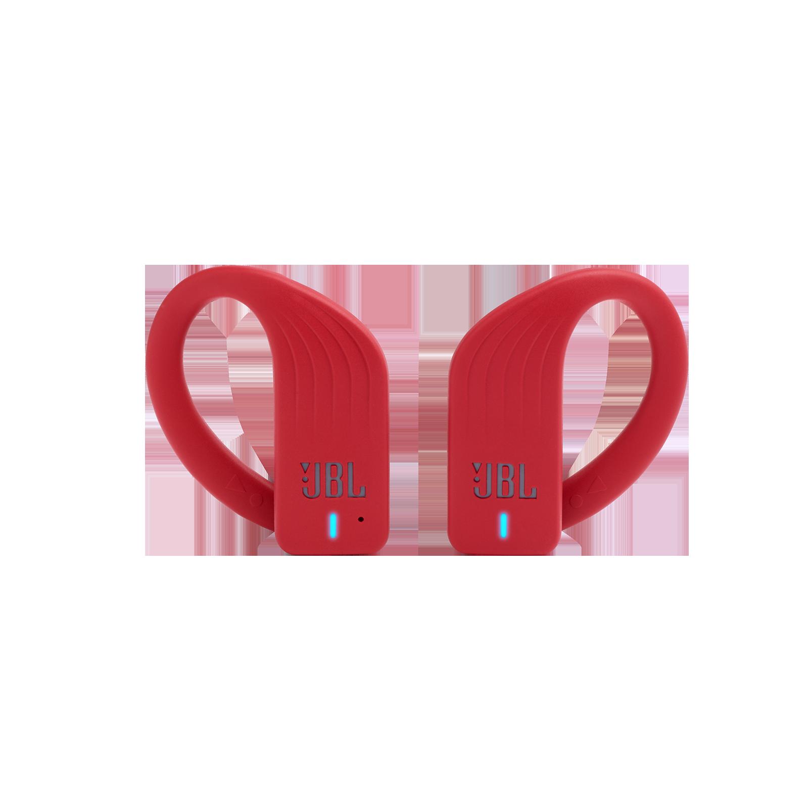 JBL Endurance PEAK - Red - Waterproof True Wireless In-Ear Sport Headphones - Front