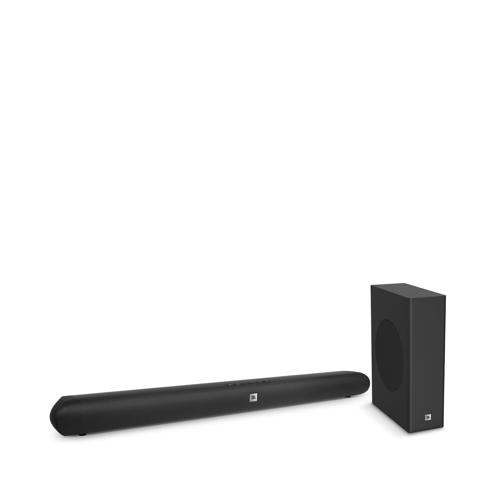 Home cinema 2.1 soundbar with compact wireless subwoofer