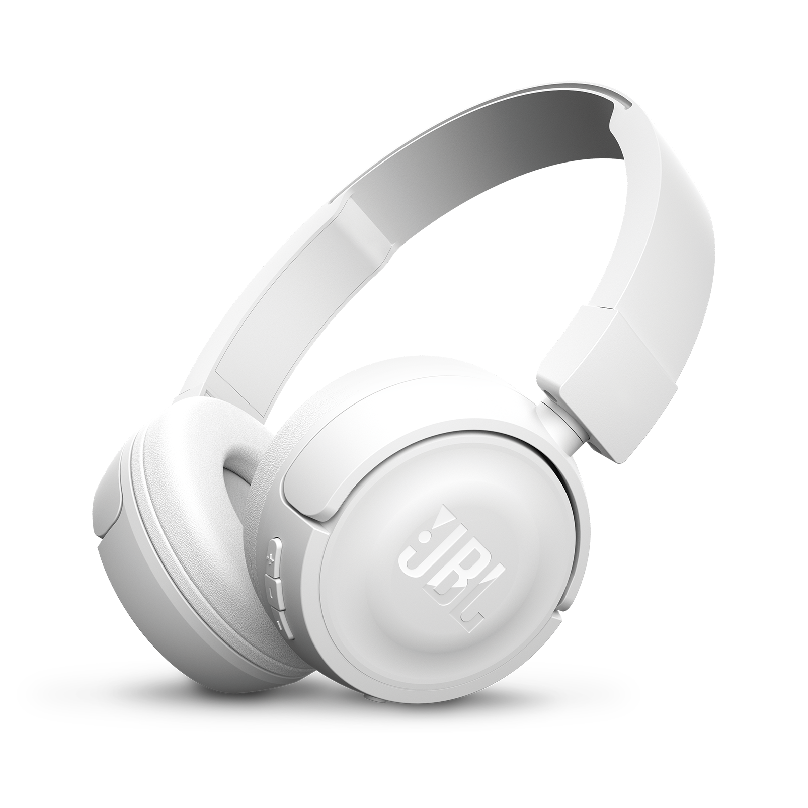 JBL T450BT - White - Wireless on-ear headphones - Hero