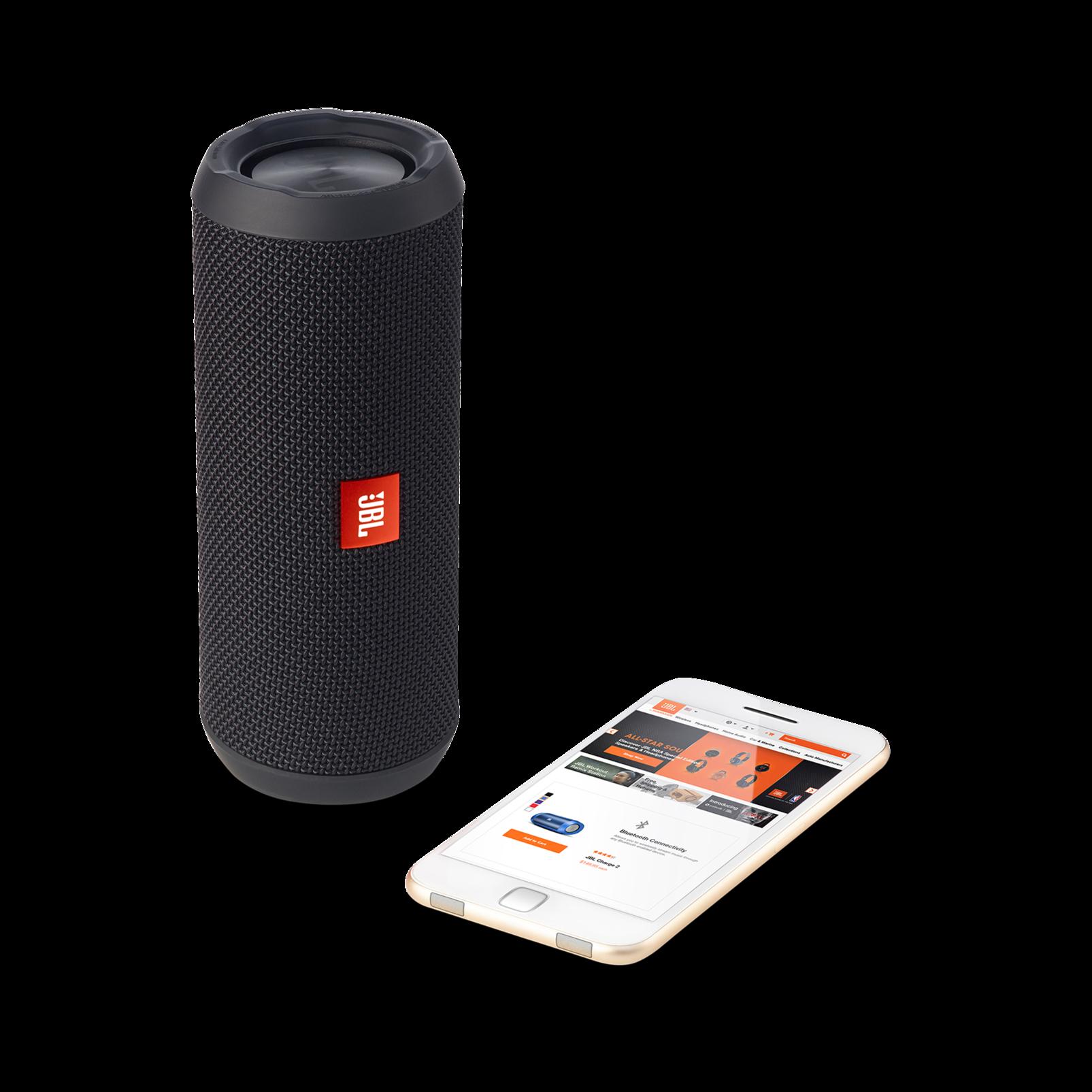 JBL Flip 3 - Black - Splashproof portable Bluetooth speaker with powerful sound and speakerphone technology - Detailshot 1
