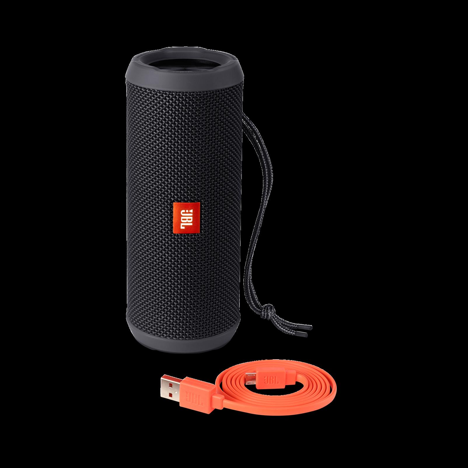 JBL Flip 3 - Black - Splashproof portable Bluetooth speaker with powerful sound and speakerphone technology - Detailshot 4