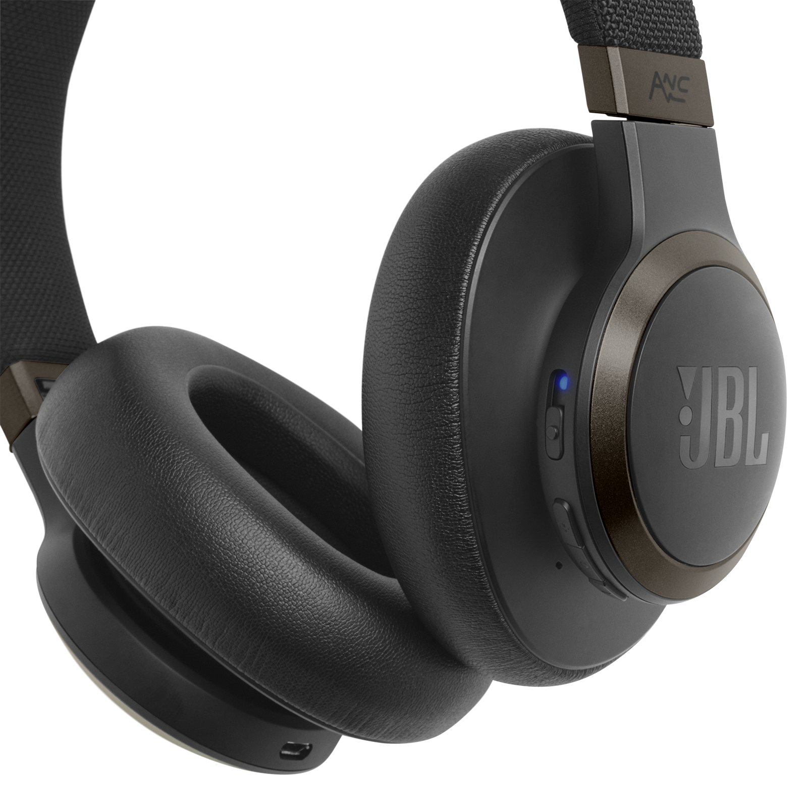 JBL LIVE 650BTNC - Black - Wireless Over-Ear Noise-Cancelling Headphones - Detailshot 4
