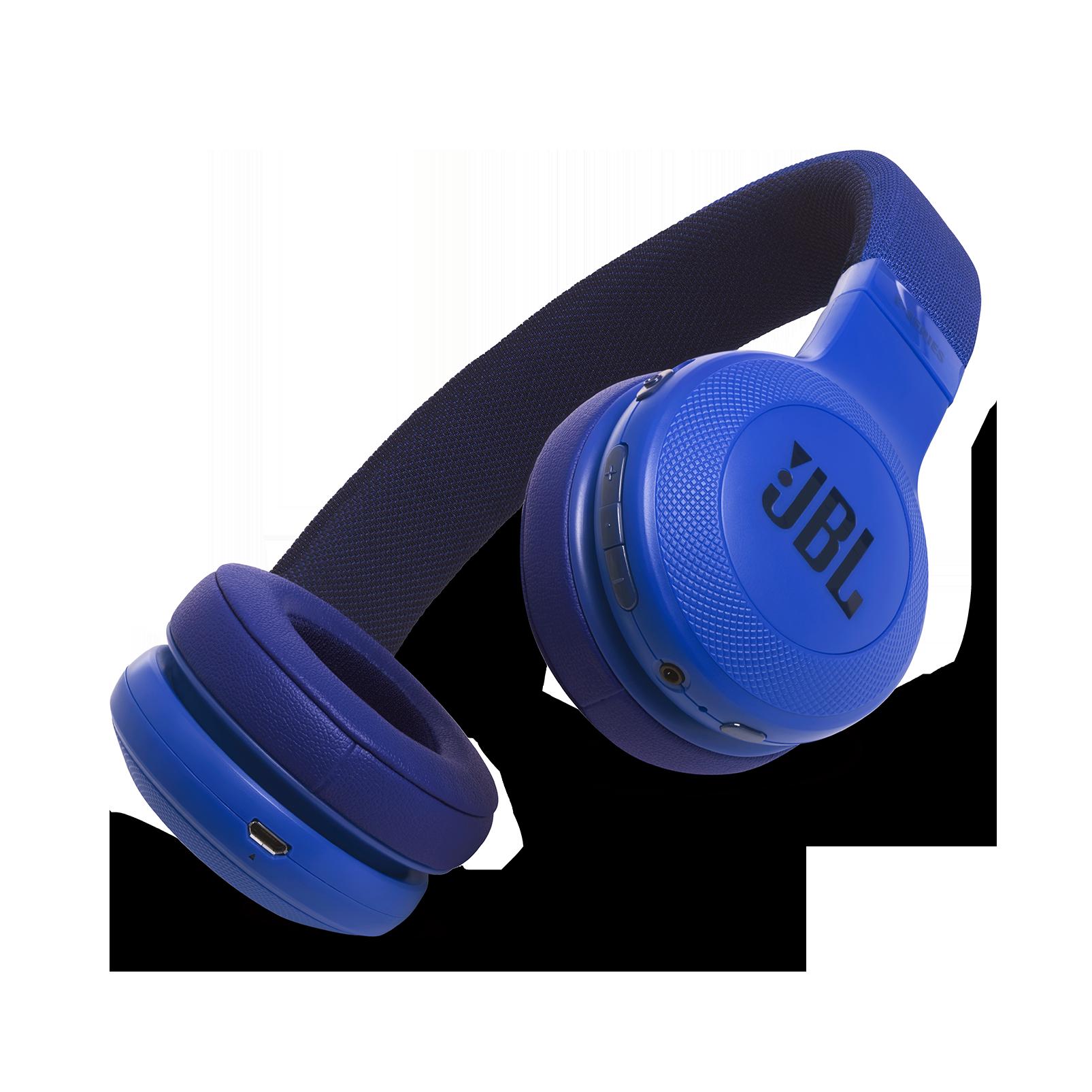 JBL E45BT - Blue - Wireless on-ear headphones - Hero