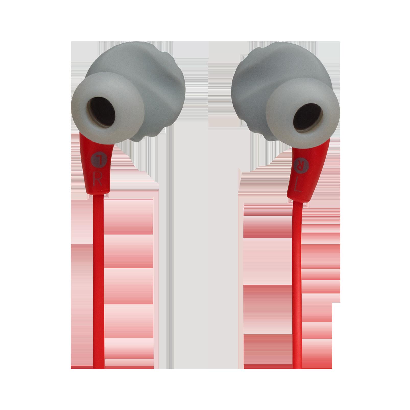 JBL Endurance RUNBT - Red - Sweatproof Wireless In-Ear Sport Headphones - Back