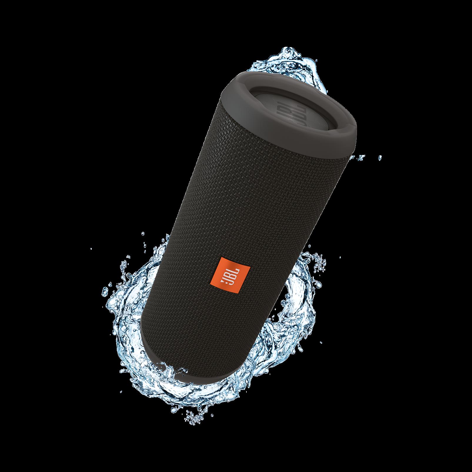 JBL Flip 3 - Black - Splashproof portable Bluetooth speaker with powerful sound and speakerphone technology - Hero