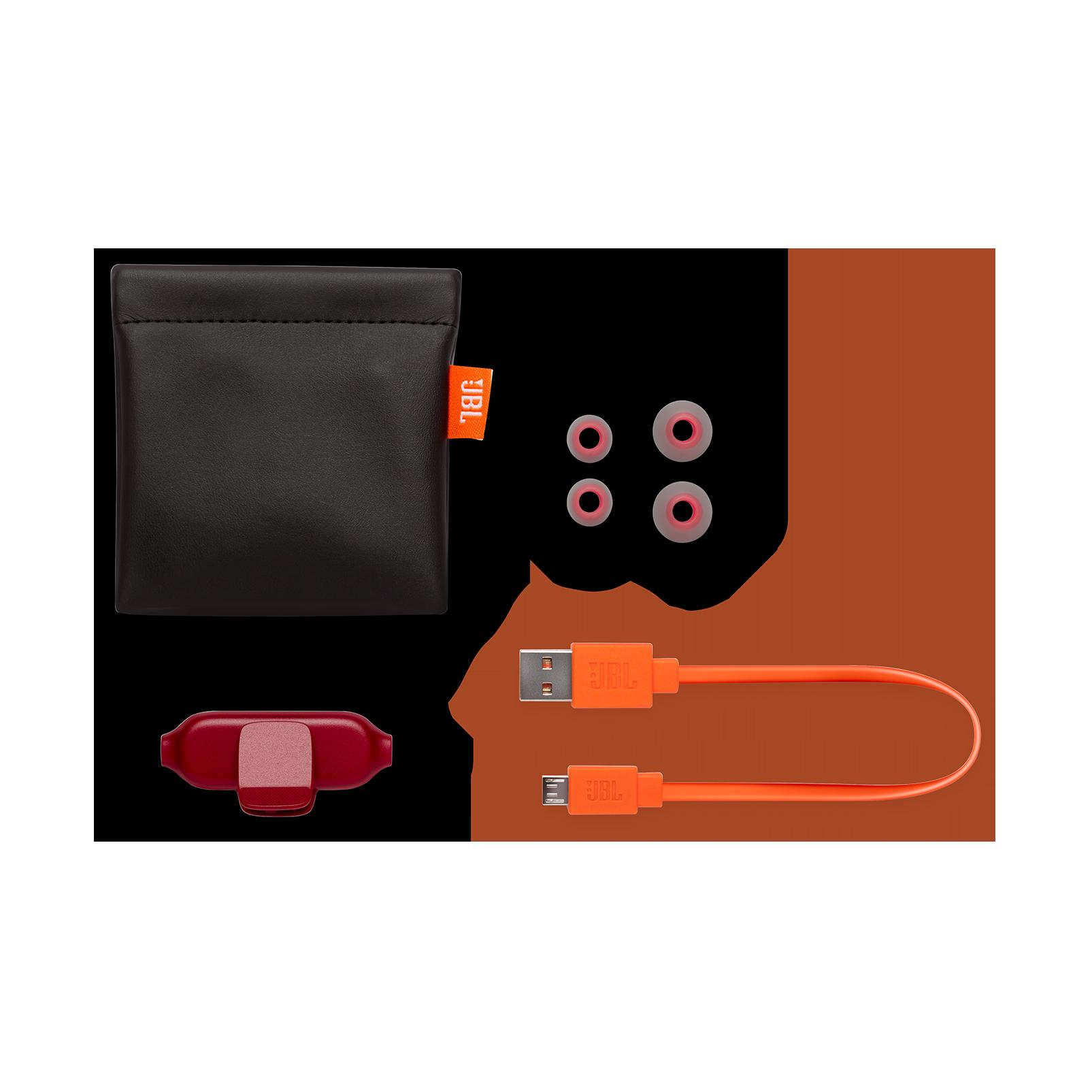 E25BT - Red - Wireless in-ear headphones - Detailshot 4